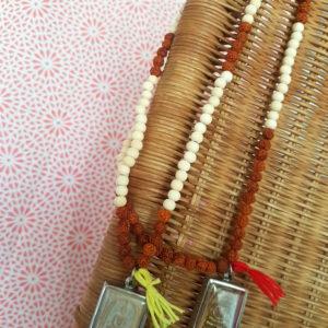 Mala «Tradition» bois et rudraksha