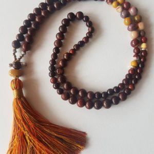 Mala «Mookaïte» bois et pierre de Mookaïte